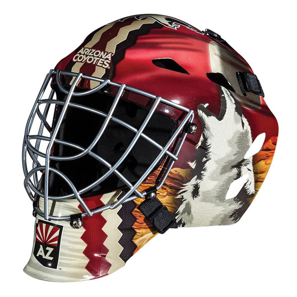 Sports Masks Google Search In 2020 Goalie Mask Street Hockey Arizona Coyotes
