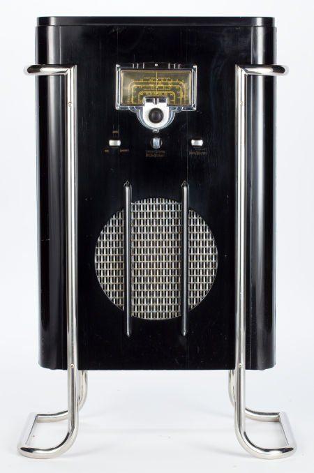 89204 A JOHN VASSOS 6K10 FLOOR MODEL RCA RADIO Design