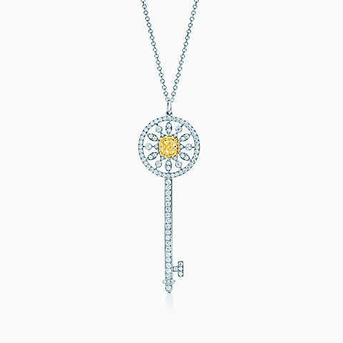 Tiffany keys star key pendant of yellow and white diamonds in tiffany keys star key pendant of yellow and white diamonds in platinum and gold mozeypictures Image collections
