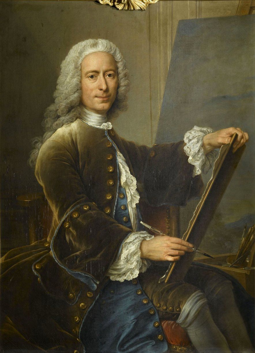Pittore Francese Maurice Charles Antoine Coypel 1694 1752 Pittore Francese Self Portrait