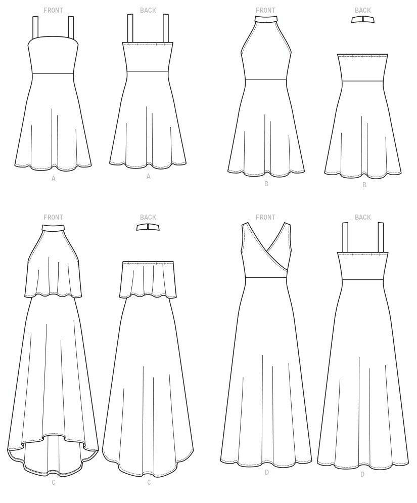 Dibujos de ropa de moda faciles