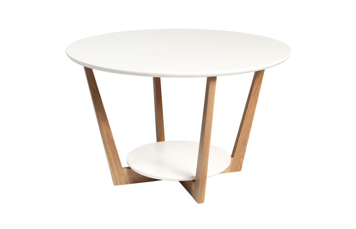 Arild coffee table material oak finishcolors white