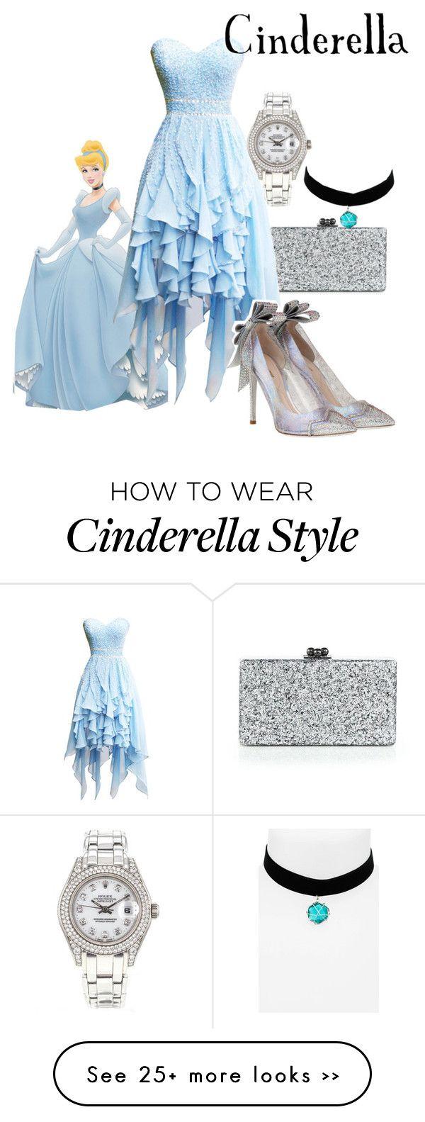 """Cinderella"" by tmntdonnie on Polyvore featuring Edie Parker, Topshop, Rolex and Nicholas Kirkwood"