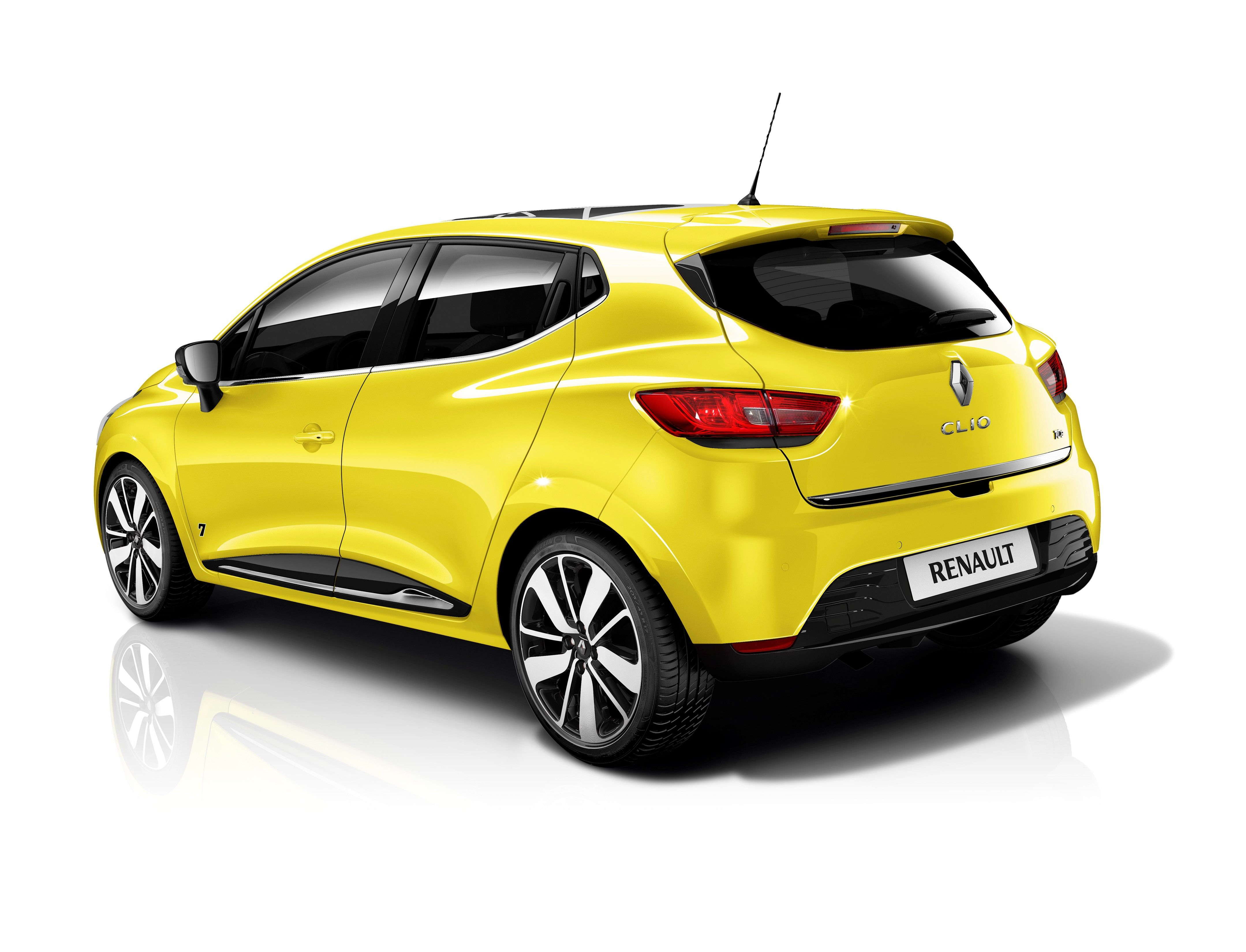 Yellow Renault Clio Rear 3 4 View Auto Francese
