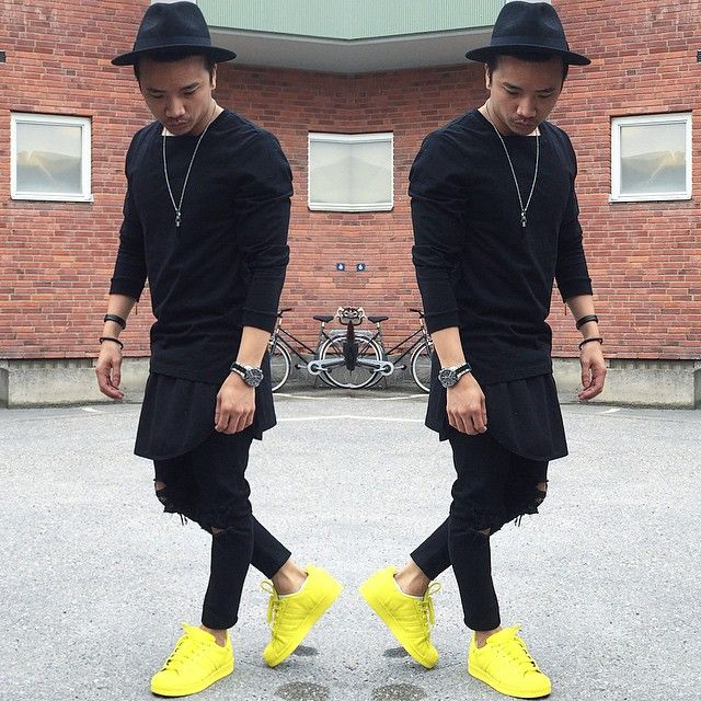 lovely outfits with yellow shoes men