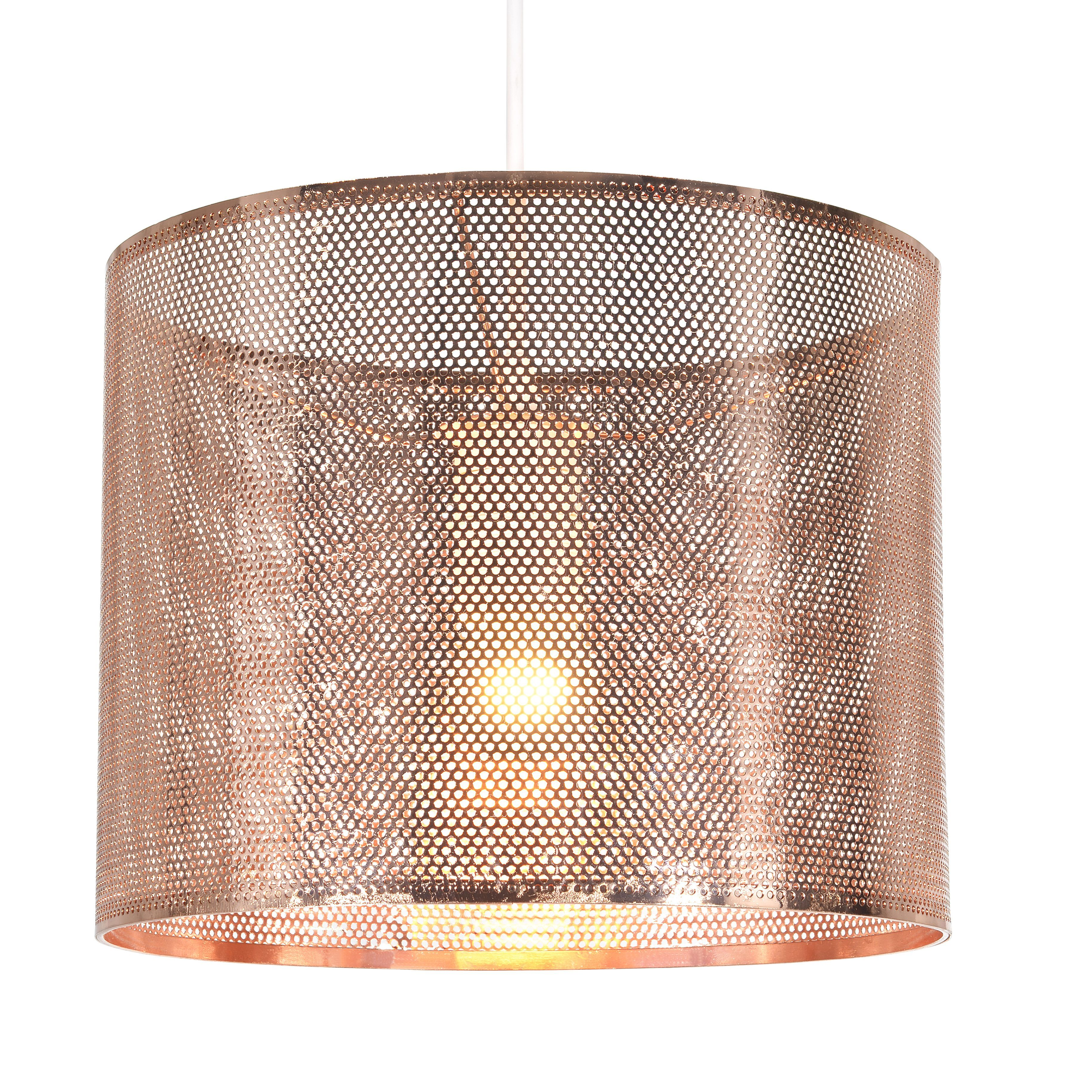 Diy supplies accessories diy at b q - Colours Belina Copper Cutout Light Shade D 25cm Departments Diy At B Q