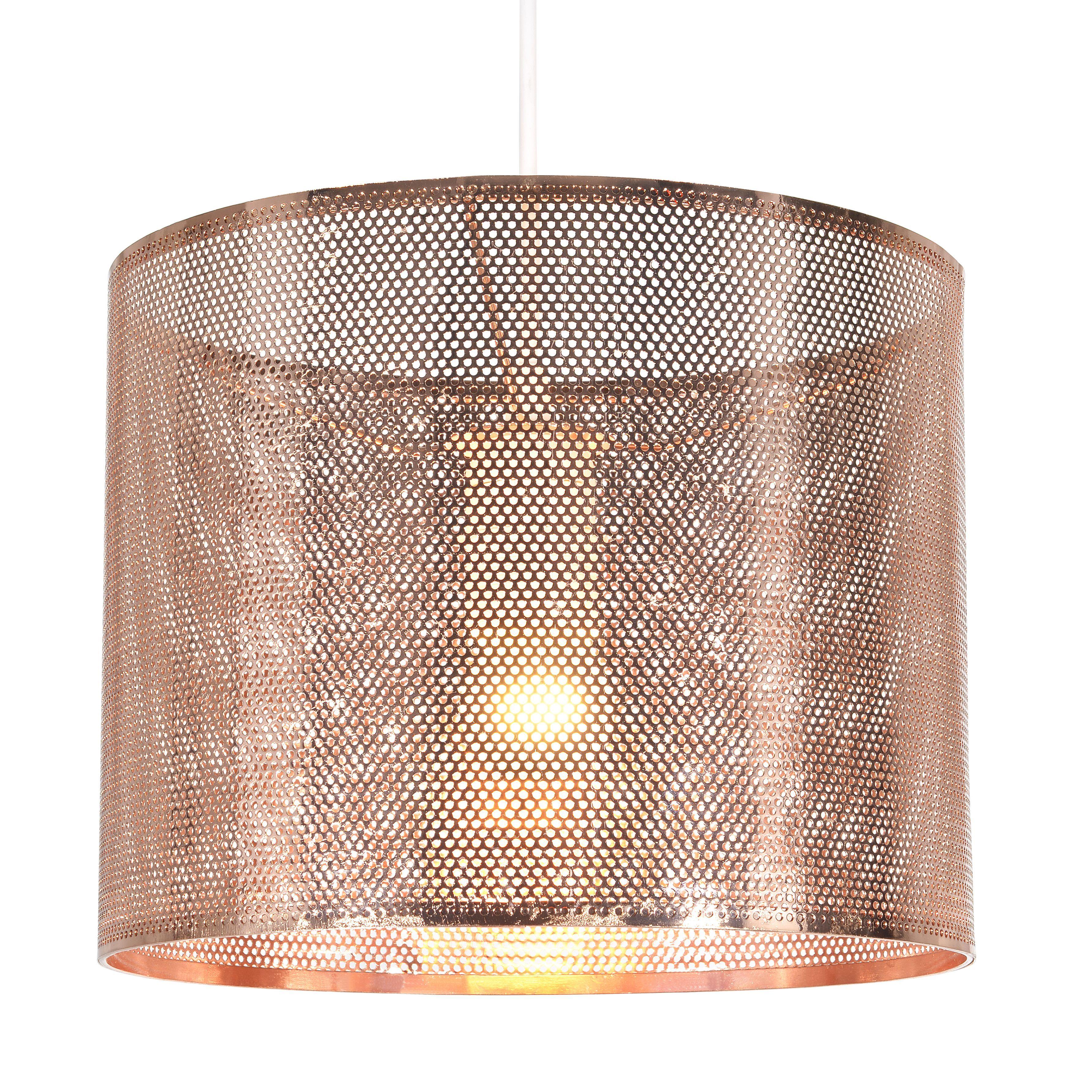 Colours Belina Copper Effect Cutout Light Shade D 25cm Departments Diy At B Q