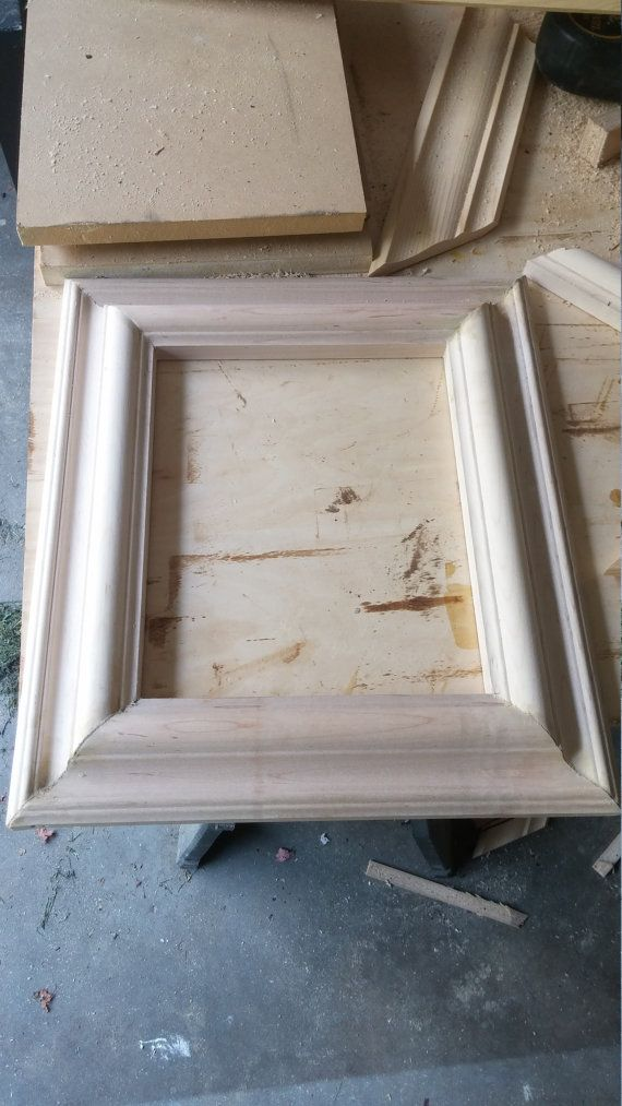 crown molding picture frames by RichardsWoodworking7 on Etsy | my ...