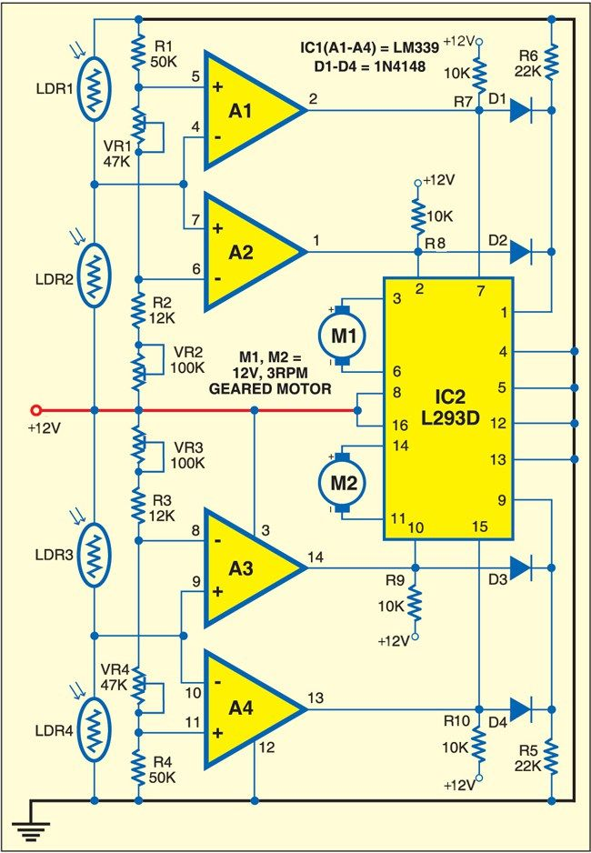 [DIAGRAM_38EU]  Solar Tracking System | Solar tracker, Solar energy system, Solar energy  panels | Four Pole Wiring Diagram Tracker |  | Pinterest