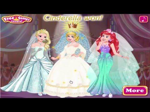 Disney Princess Wedding Festival Play Elsa Cinderella And Ariel Dress Up Games Disney Princess Wedding Festival Wedding Princess Wedding