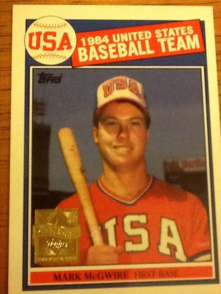 Mark Mcgwire 1984 United States Baseball Team Topps Card 401
