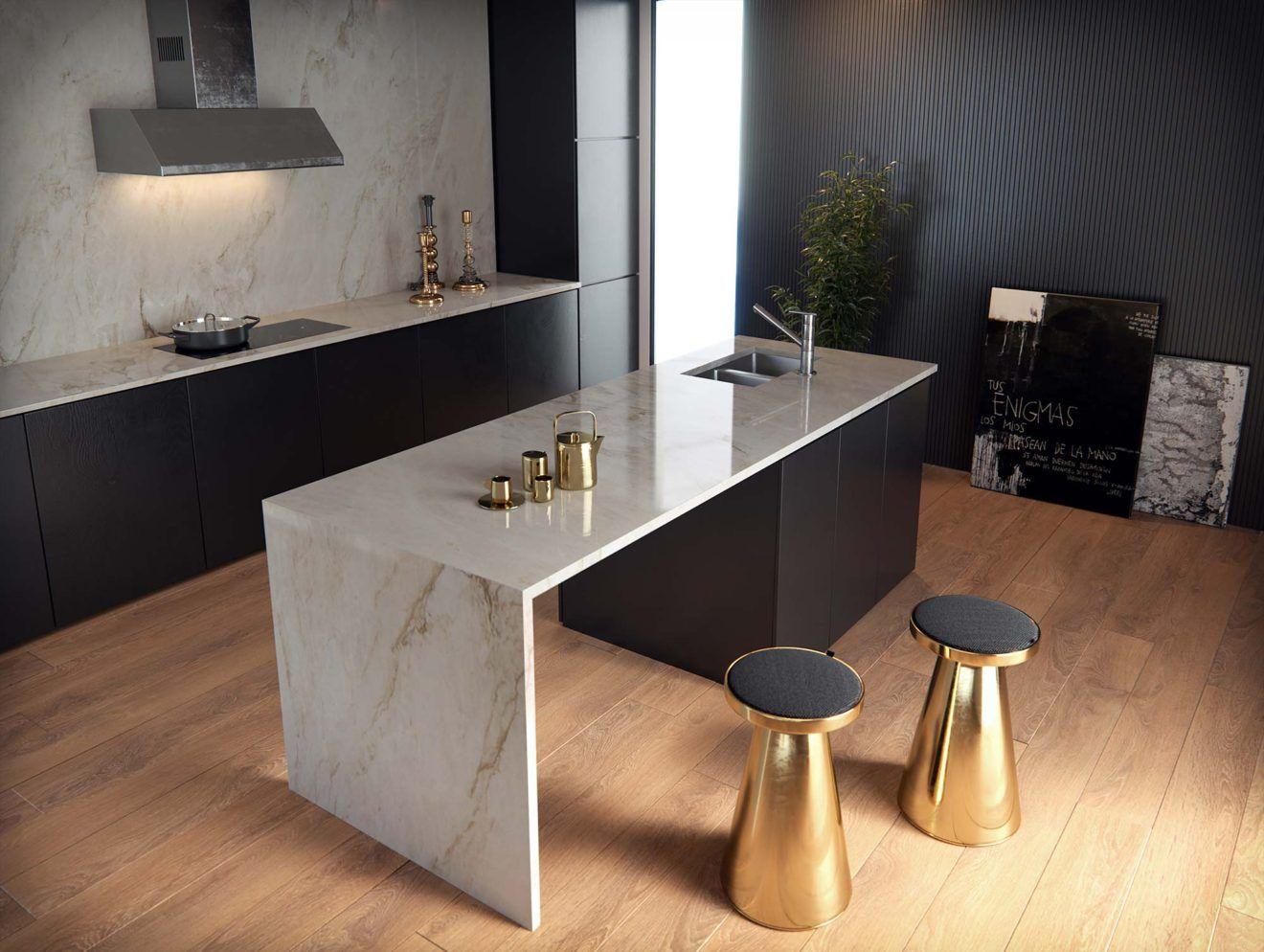 Plan Travail Cuisine Noir cuisine noir plan de travail marbre blanc - novocom.top
