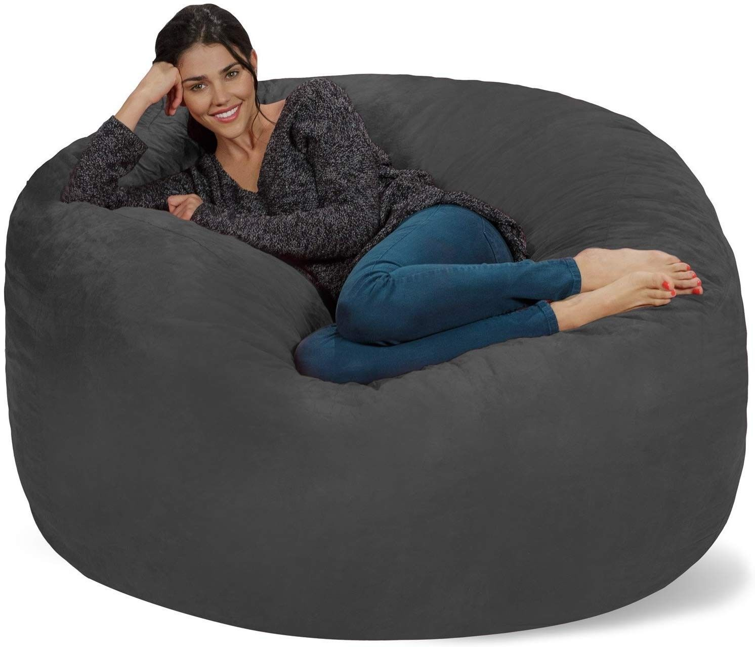 Details About Chill Sack Bean Bag Chair Giant 5 Memory Foam