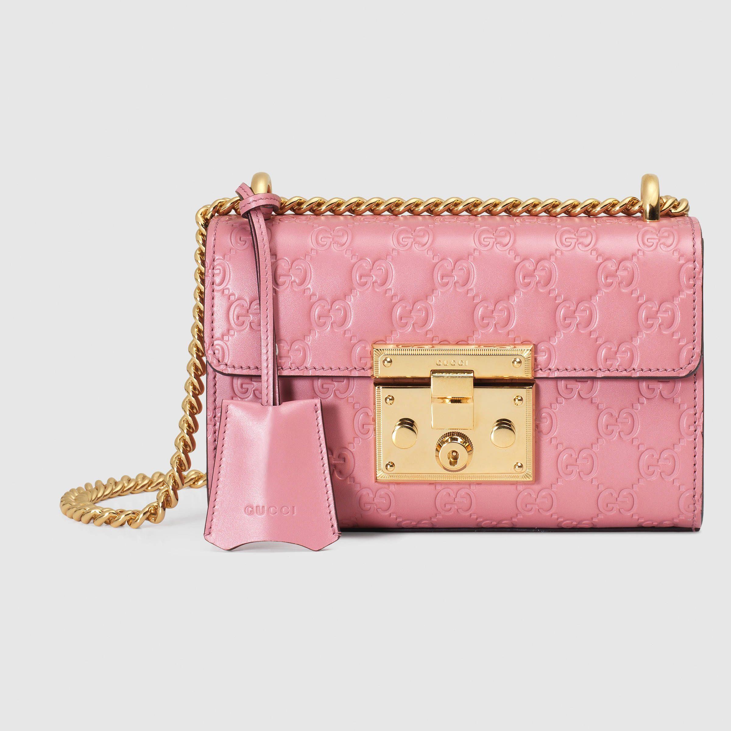 74f9a196581 Gucci Women - Padlock Gucci Signature shoulder bag - 409487CWC1G5812   Guccihandbags