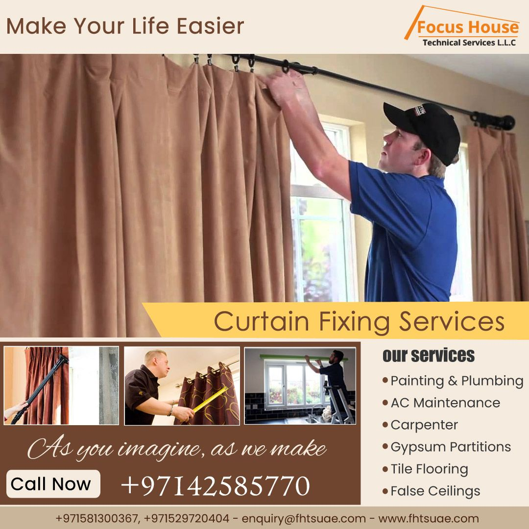 curtain fixing services curtains