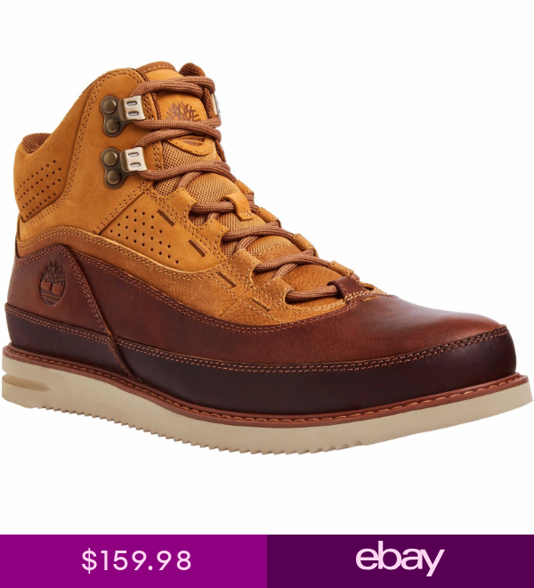TIMBERLAND 43 NORTH MID MENS COMFY LEATHER BOOTS WHEAT FULL