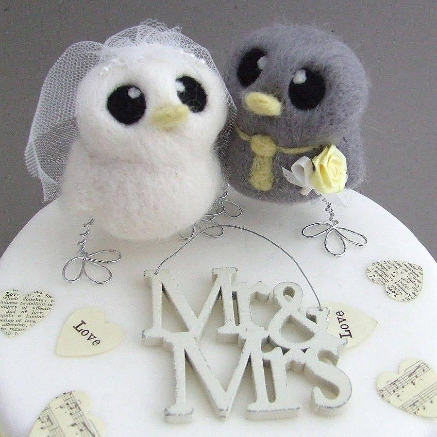 Bride And Groom Bird Wedding Cake Topper | Bird wedding cakes ...