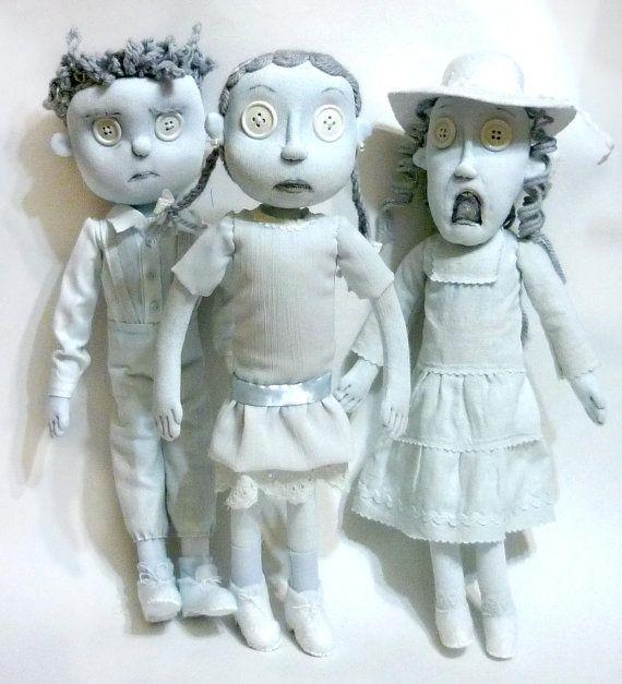 Ghost Children Dolls Ot Sinceremasterpieces Na Etsy 195 00 Coraline Doll Coraline Jones Coraline Aesthetic