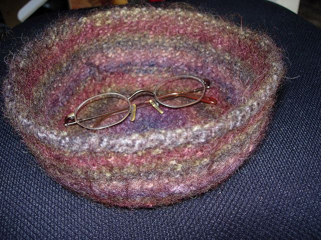 Free Knitted And Felted Bowl Pattern On Raverly Felt Pinterest