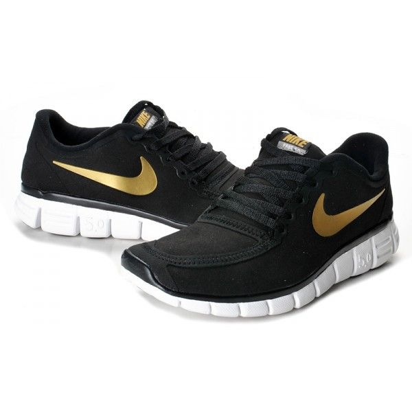 finest selection c2e4e 4a1db Nike Free 5.0 V4 Black Gold White