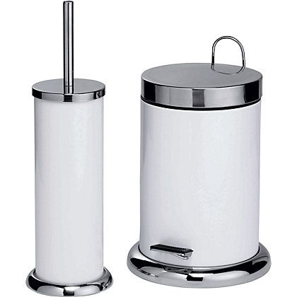 Bin + Brush set (With images) | Bathroom bin, Toilet brush ...