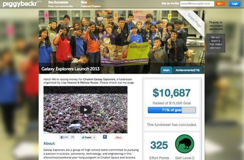 Piggybackcr Is A Crowd Sourcing Fundraising Tool Designed For Kids