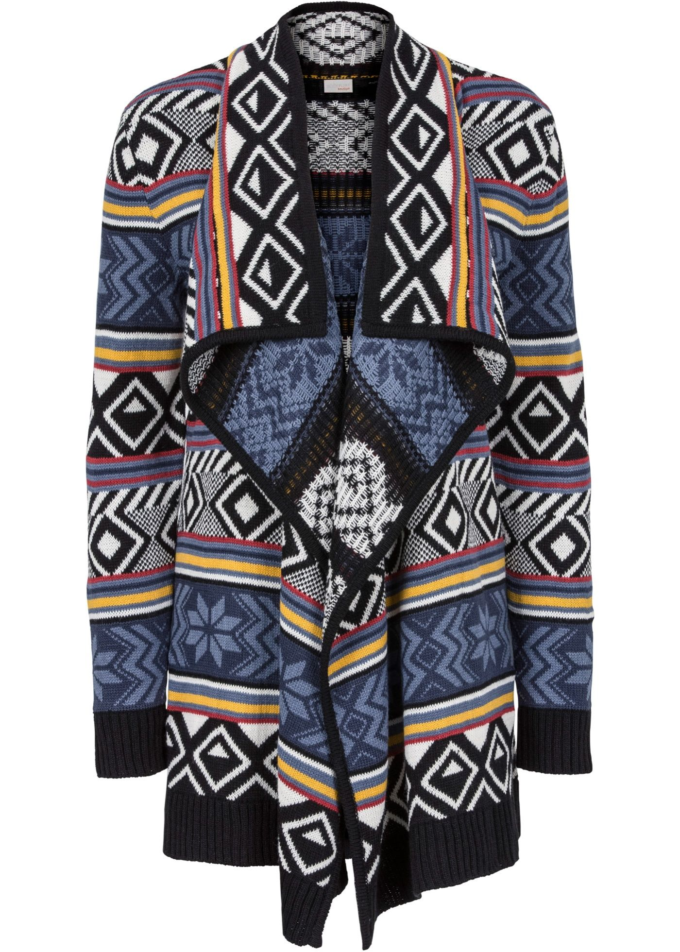 Strickjacke Schwarz Weiss Blau Jetzt Im Online Shop Von Bonprix De Ab 29 99 Bestellen Das An Einen Poncho Angelehnte Design Dieses Fashion Cardigan Sweaters