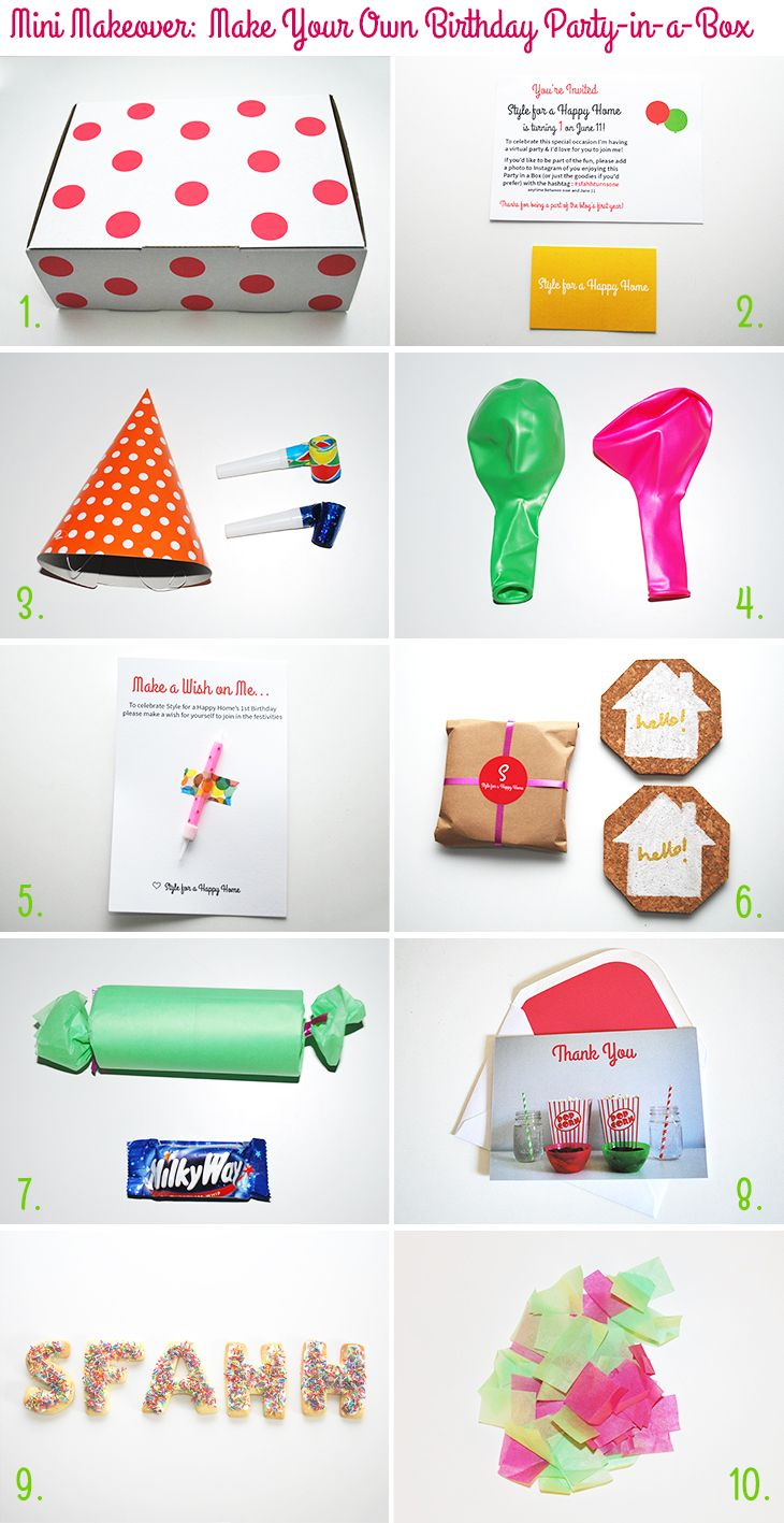 Mini Makeover: Make Your Own Birthday Party-in-a-Box on Style for a ...