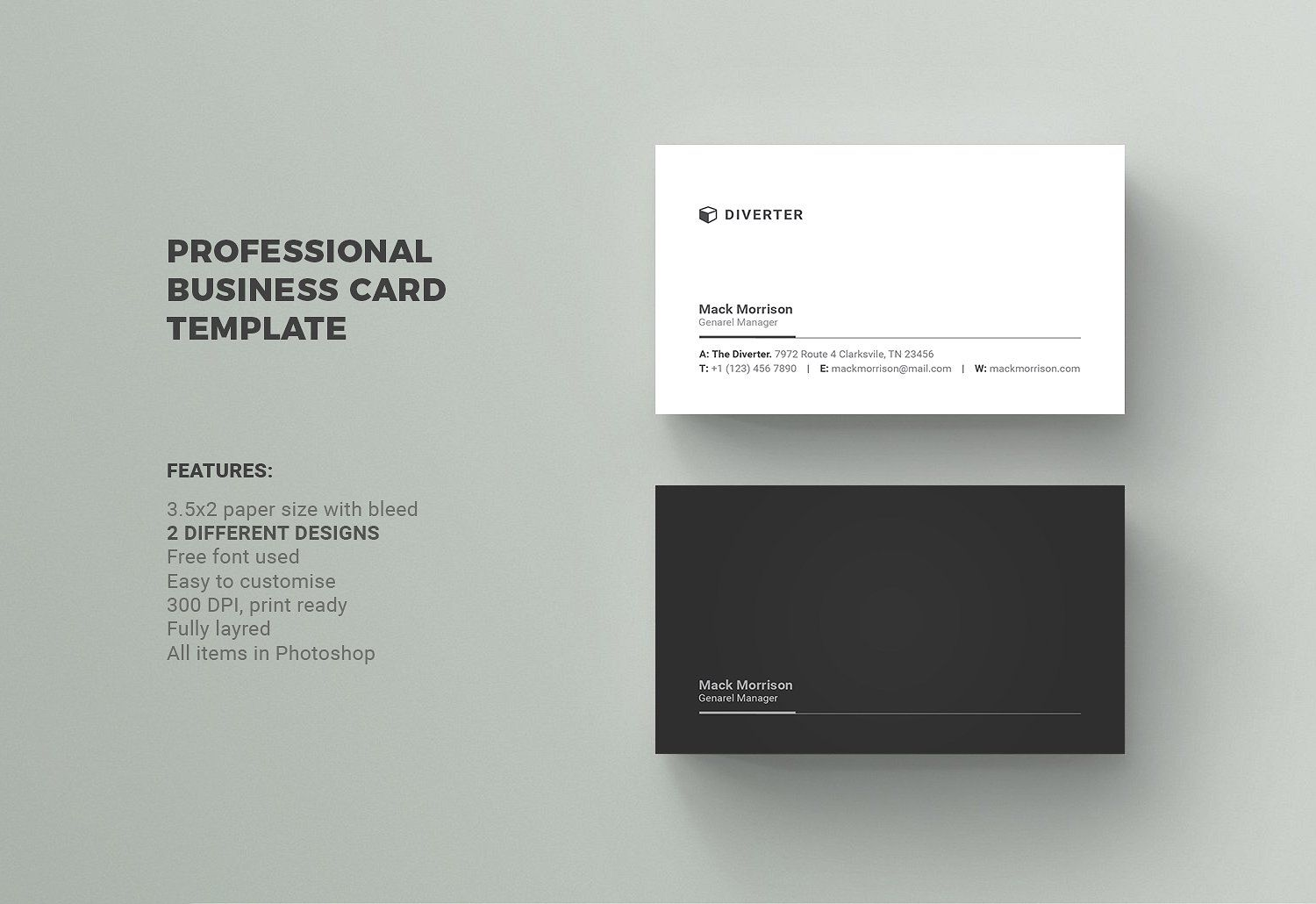 Business Card Business Card Template Design Professional