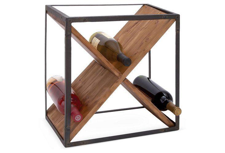 "16"" Crossed Wine Rack"
