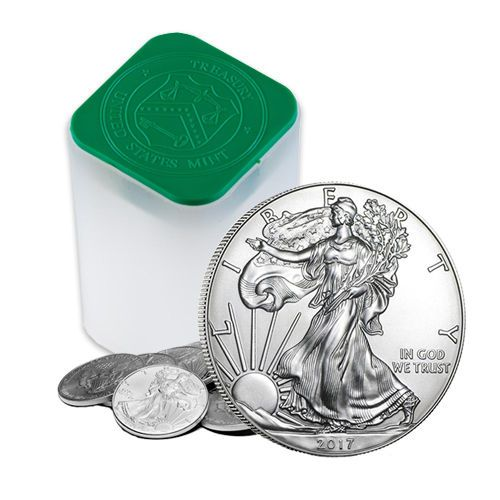 About 2017 1 Oz Silver American Eagle Coins Bu Lot Roll Tube Of 20 American Eagle Silver Bullion Coins Are Affordable Eagle Coin Silver Bullion Coins Coins