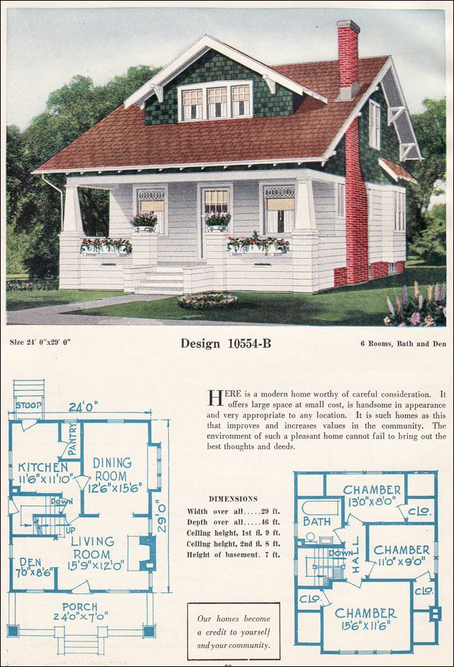 Bungalow Craftsman House Plans 1920s Home Design And Style