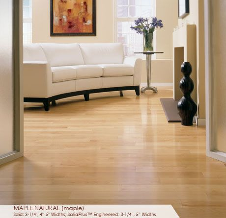 Maple Wood Floors Are Naturally Consistent And Light In Color The Perfect Choice For Maple Hardwood Floors Wood Floors Wide Plank Engineered Hardwood Flooring