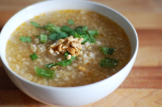 Slow cooker congee brown rice