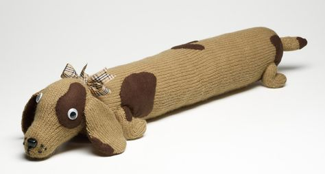 How to Knit a Dog Draught Excluder | Knitting, Knitted ...