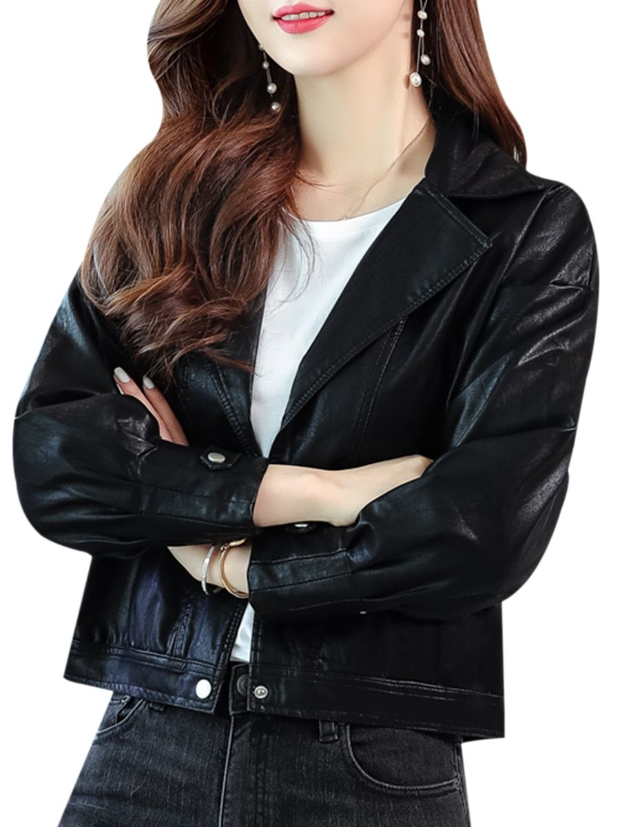 Buy Women S Leather Jacket Loose Patchwork Fashion Jacket Jackets At Jolly Chic Leather Jackets Women Fashion Clothes For Women [ 1200 x 900 Pixel ]