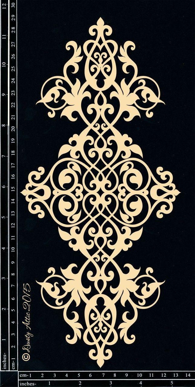 Bild 1 Deko Ornamente Vorlagen Schablonenmuster Marokkanische Schablonen