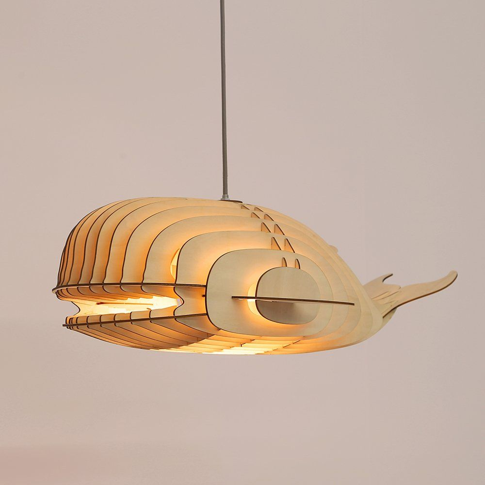 Hroome Unique Design Wood Hanging Pendant Ceiling Light Fixture With Cord Diy Decorative Whale Lar Ceiling Pendant Lights Ceiling Light Fixtures Ceiling Lights