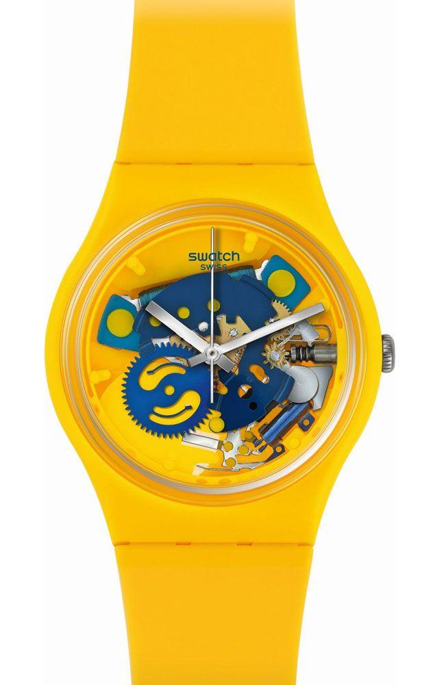 reloj swatch unisex poussin gj