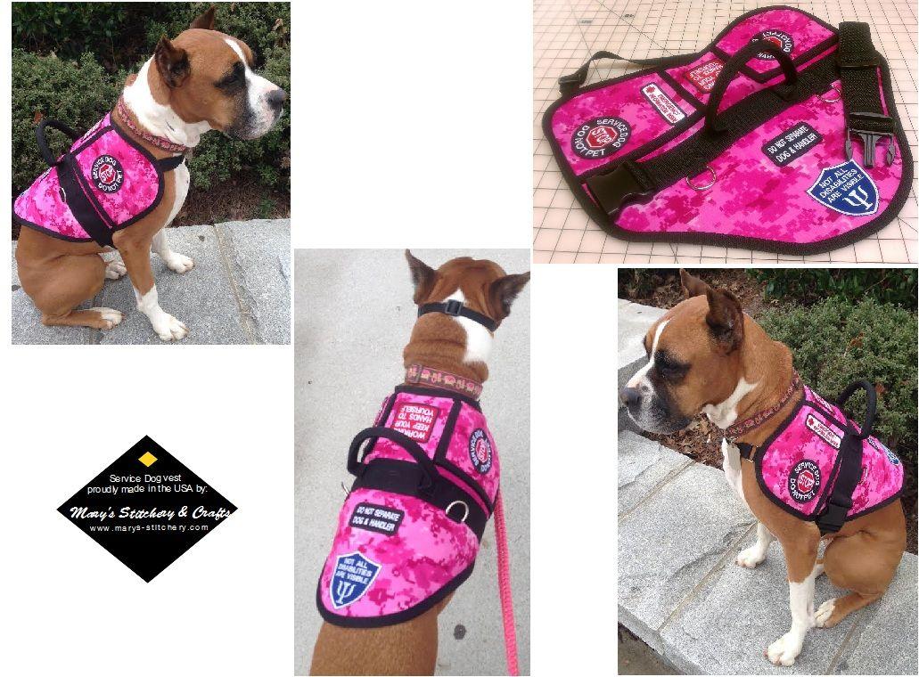 Service Dog Vests By Mary S Stitchery Crafts Photo Gallery