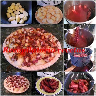 Receta hecha, probada y testada por Blog Recopilatorio de recetas  Tere y Merchy.       Ingredientes     780 gr de pulpo   1 li...