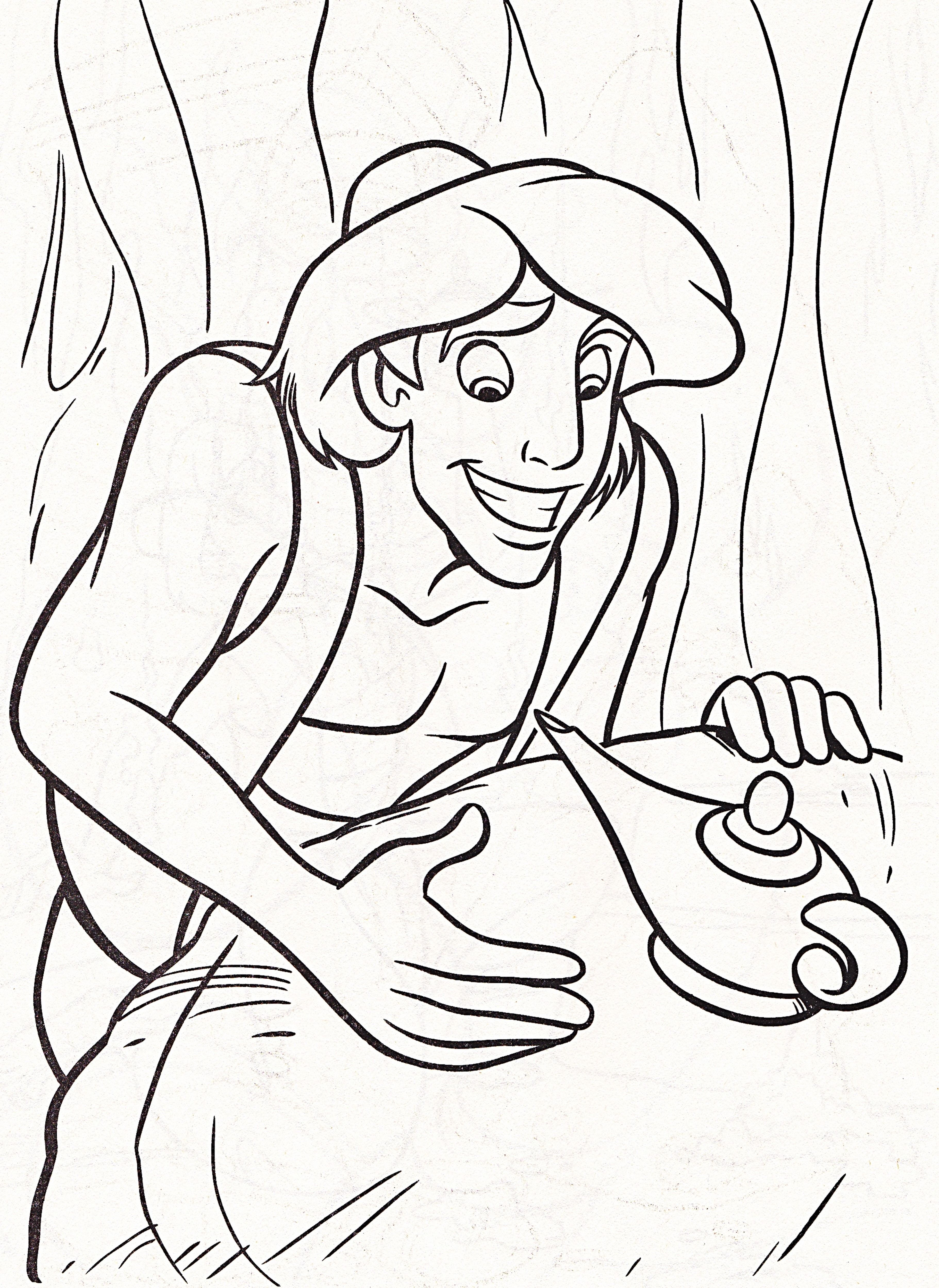 Aladdin And Magic Lamp Coloring Pages Cartoon Coloring Pages
