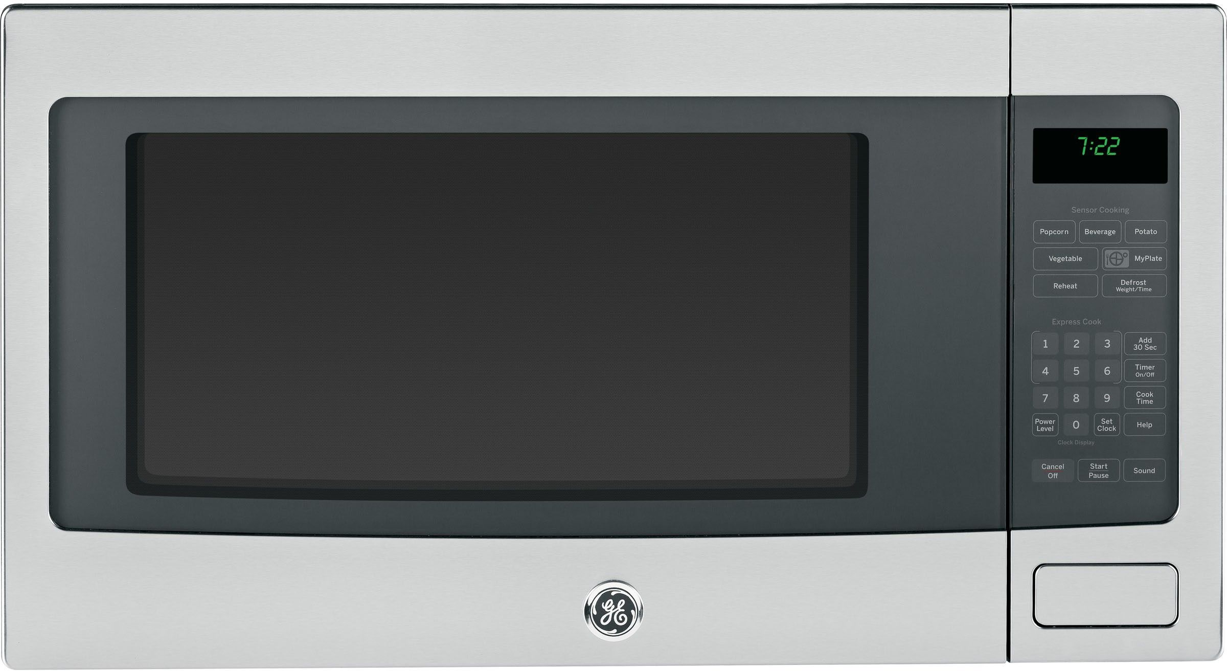 Profile 2 2 Cu Ft Stainless Steel Countertop Microwave Countertop Microwave Stainless Steel Countertops Stainless Steel Microwave
