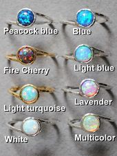 Opal ring White Opal Ring Silver Mothers ring Fire Opal Ring dainty stack ring Gold opal ring Promise ring opal Mothers day Gift  Jewelry