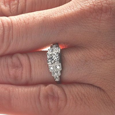 Leigh Jay Nacht Inc. - Circa 1920s Engagement Ring - VR489-15
