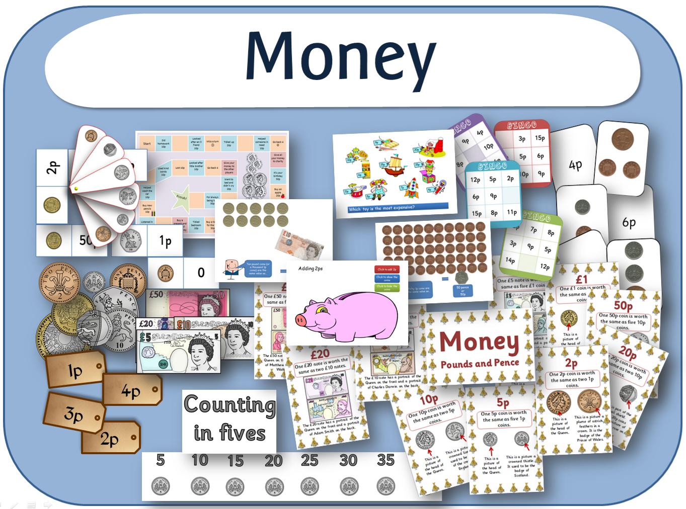 Ks1 Maths Measurement Money Resources Set