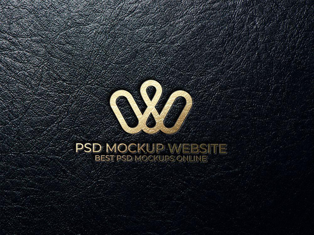 Free Leather PSD Logo Mockup in 2020 Logo mockup, Logo
