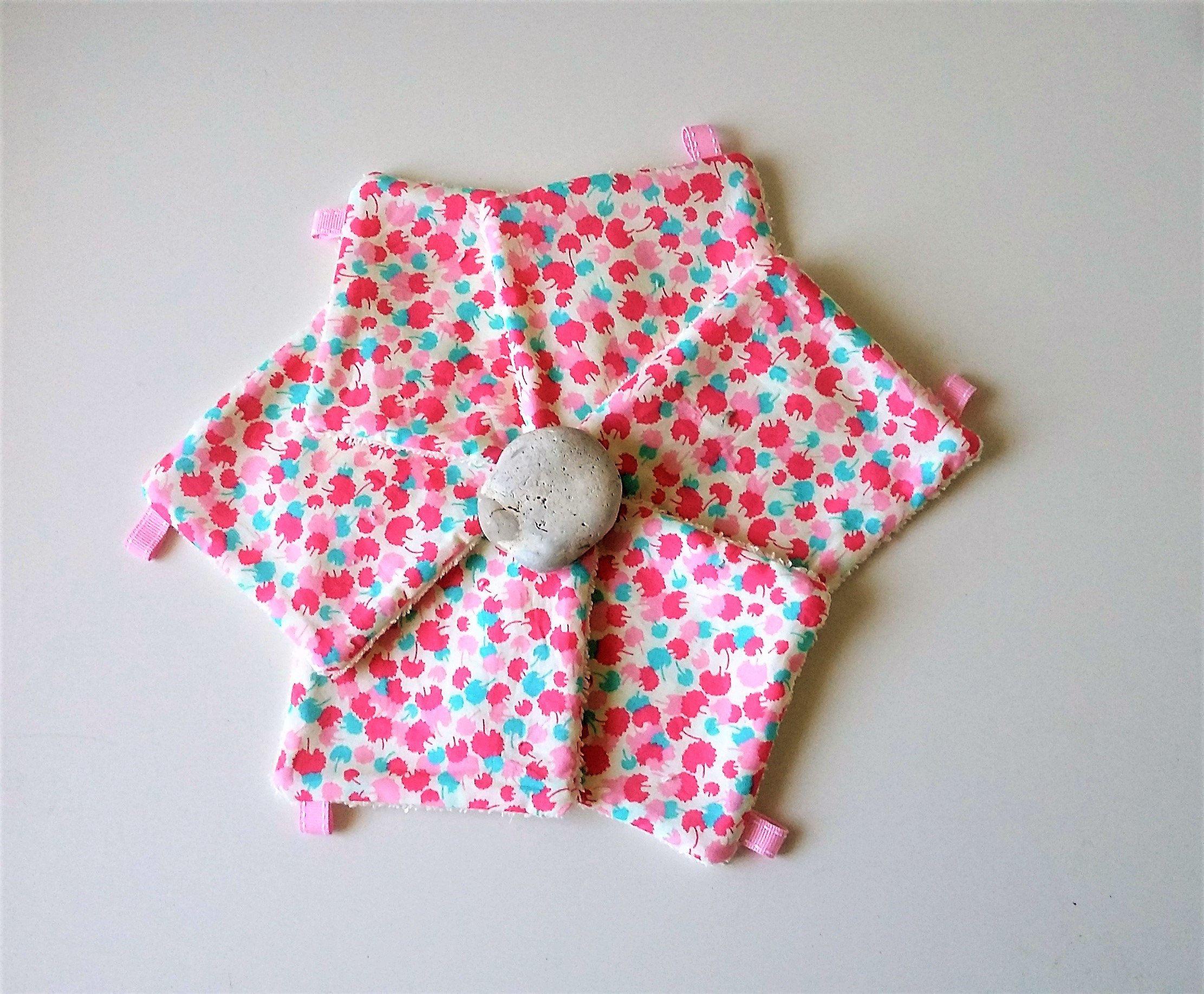 Lingettes lavables démaquillantes par 6 ,cadeau fête des mères , cadeau femme ou fille ,tissu japonais