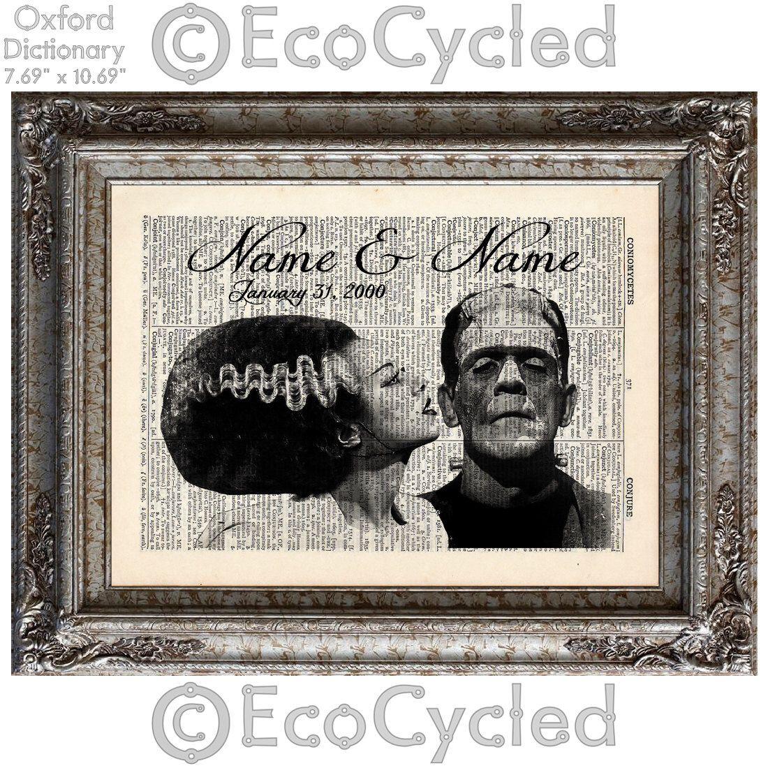 Frankenstein & His Bride Customized Horror Anniversary