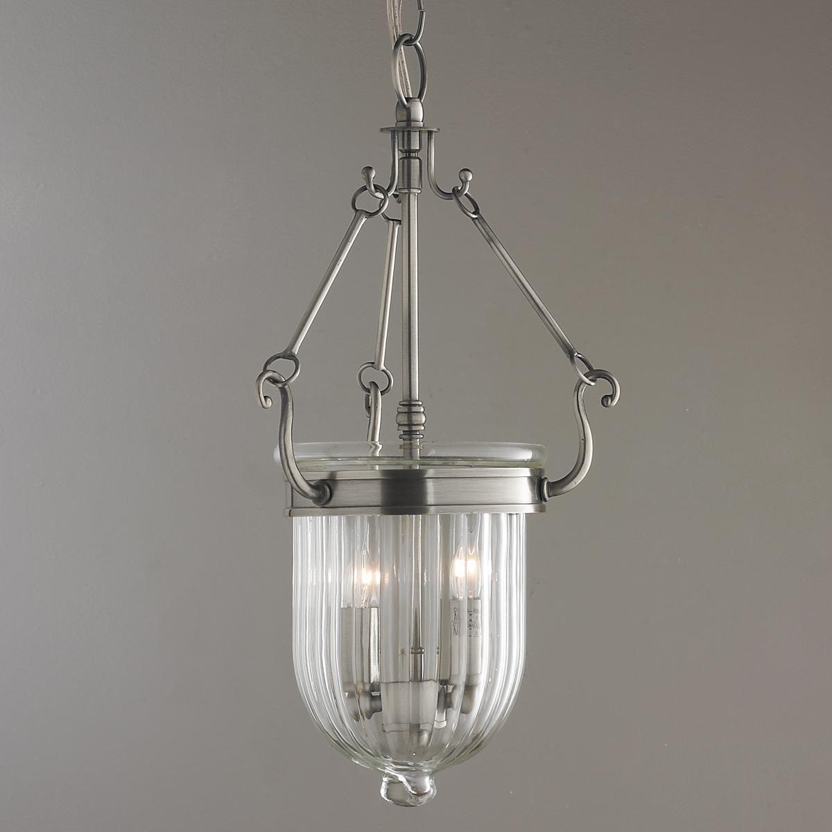 Colonial Bell Shaped Classic Hanging Lantern Glass Globe Pendant